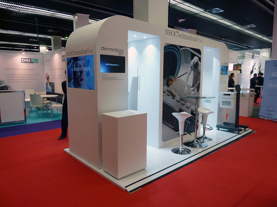 DESIGN AND CONSTRUCTION of a BOOTH for ADVANCED MEDICAL GENETICS NEOTECHMEDICAL IMCAS PARIS FRANCIA