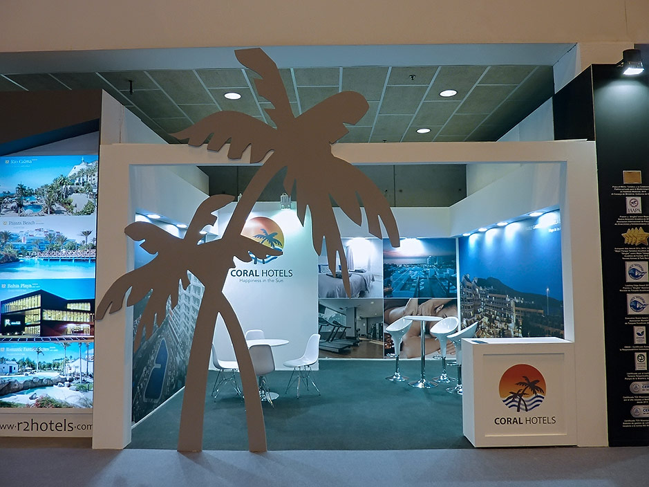 DESIGN AND CONSTRUCTION of a BOOTH for CORAL HOTELS FITUR IFEMA MADRID ESPAÑA