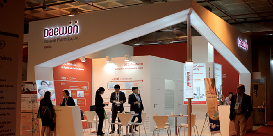 DESIGN AND CONSTRUCTION of a BOOTH for DAEWON CPHI MADRID ESPAÑA