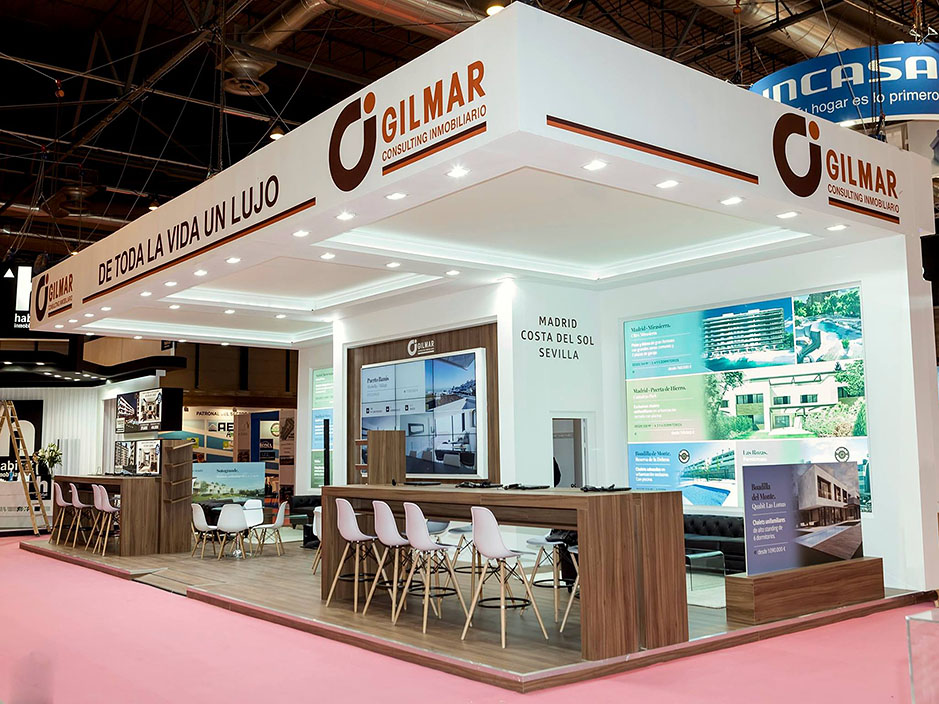 DESIGN AND CONSTRUCTION of a BOOTH for GILMAR INMOBILIARIA SIMA IFEMA MADRID ESPAÑA
