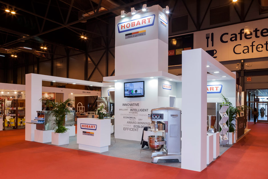 DESIGN AND CONSTRUCTION of a BOOTH for HOBART INTERSICOP IFEMA MADRID ESPAÑA