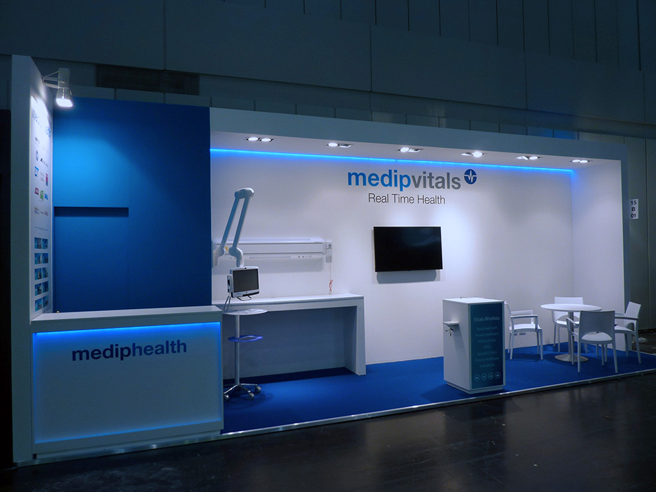 DESIGN AND CONSTRUCTION of a BOOTH for MEDIPHEALTH MEDICA DUSSELDORF ALEMANIA