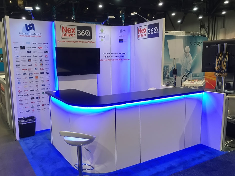 DESIGN AND CONSTRUCTION of a BOOTH for NEXSTREAMING NAB SHOW LAS VEGAS NEVADA USA