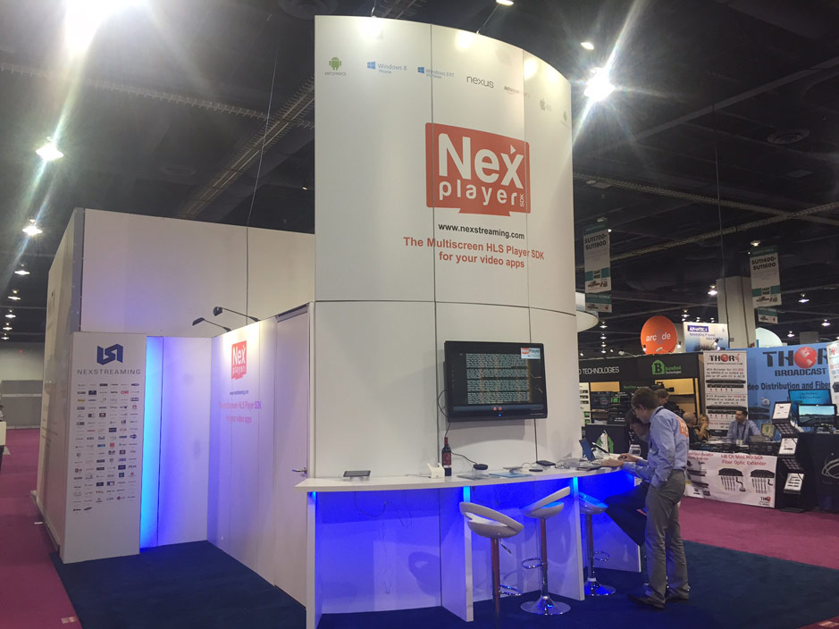 DESIGN AND CONSTRUCTION of a BOOTH for NEXSTREAMING NAB SHOW LAS VEGAS USA