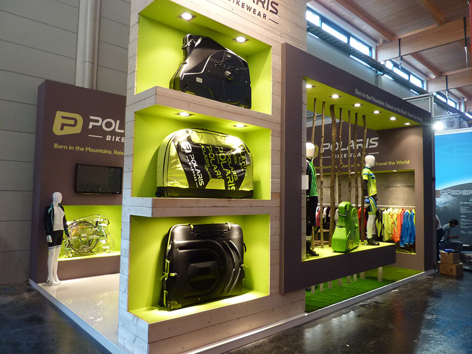 DESIGN AND CONSTRUCTION of a BOOTH for POLARIS BIKEWEAR EUROBIKE FRIEDRICHSHAFEN MESSE ALEMANIA