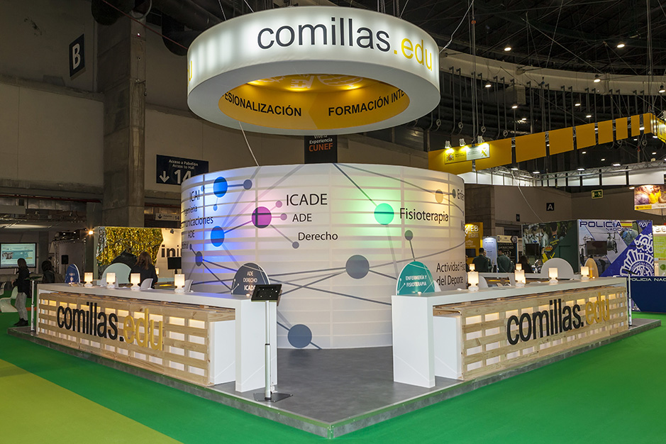 DESIGN AND CONSTRUCTION of a BOOTH for  UP COMILLAS AULA IFEMA MADRID ESPAÑA